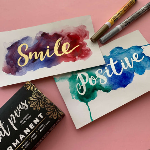 paper painting smile and positive