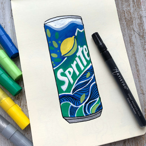 Athlete's drink drawing