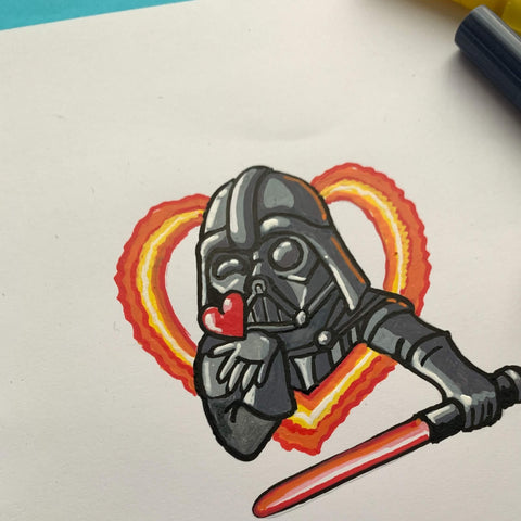 The Love of the Dark Side drawing