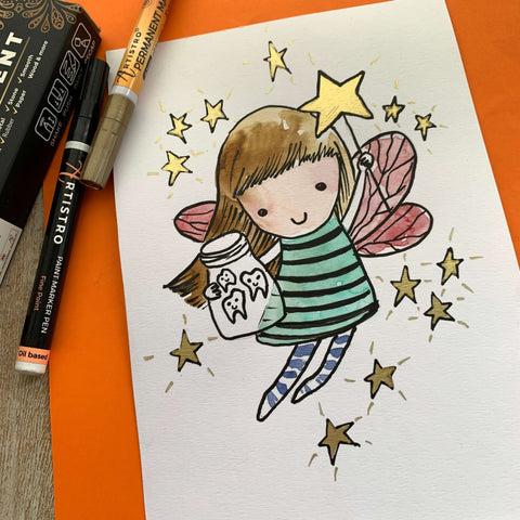 Tooth Fairy magic drawing-things to draw when bored