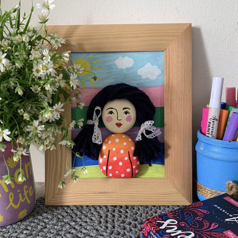 mommy's portrait craft project