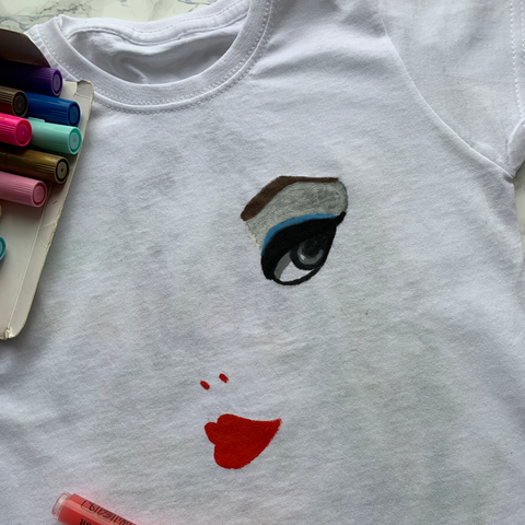 face painting on shirt