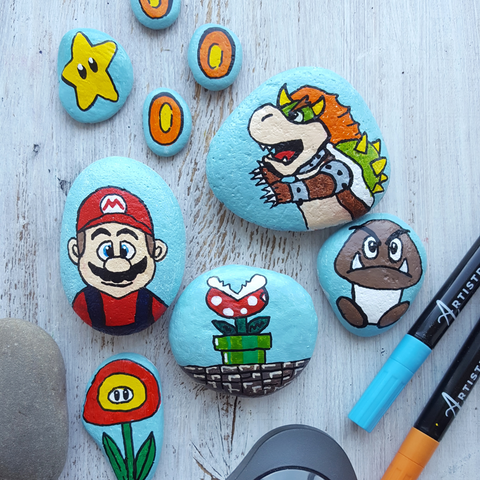 Mario Brothers story stones