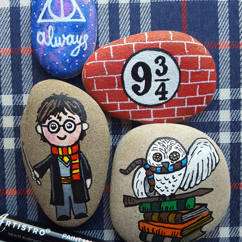 Harry Potter painted stones