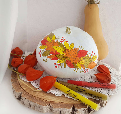 Pumpkin craft painting idea