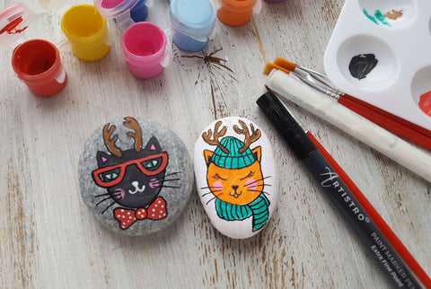 Christmas Carnival Time Rock Painting ideas