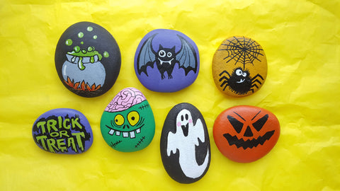 Funny Monstrous Rock Painting