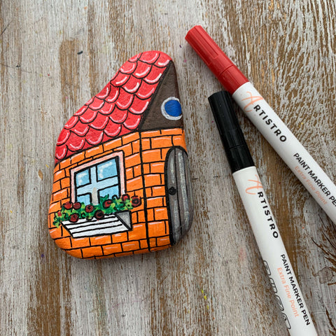 Homecoming house Rock Painting ideas