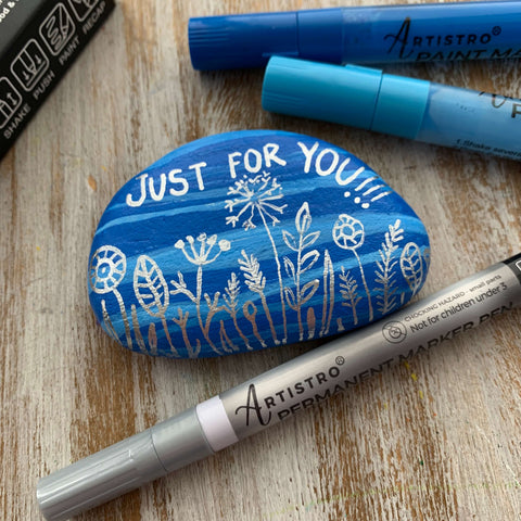 The Souvenir Just for You Rock Painting ideas