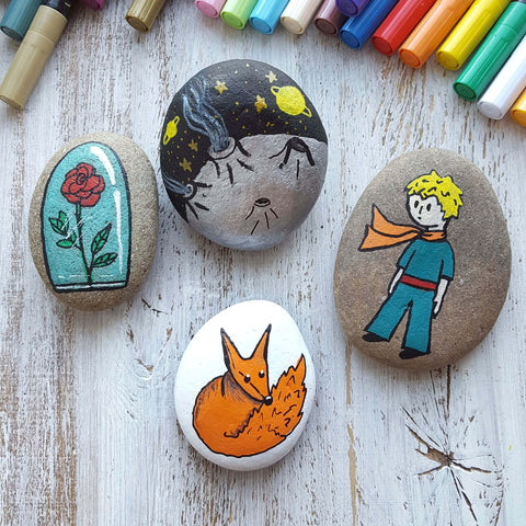 little prince Rock Painting ideas