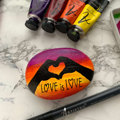 What is love rock painting