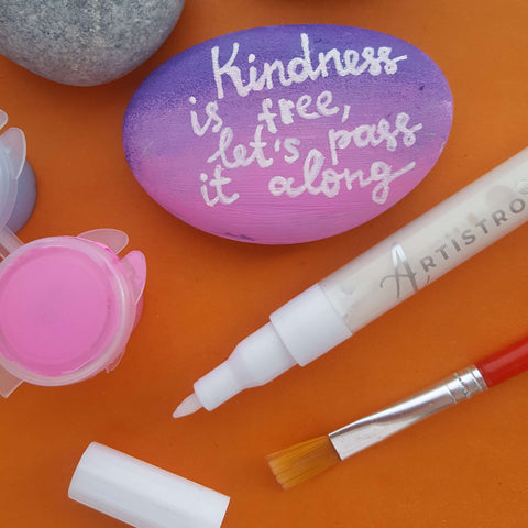 rock painting kindness