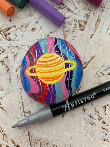 Outer Space Rock Painting ideas