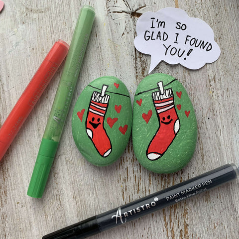 Perfect Match Rock Painting