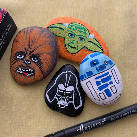 star wars The Force Unleashed Rock Painting ideas