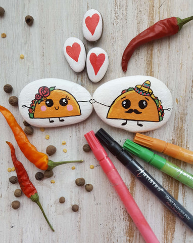 A couple of Taco Lovers Rock Painting ideas
