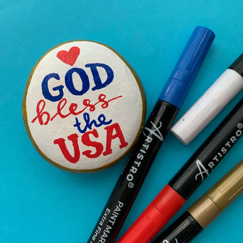 Blessed by God Rock Painting ideas