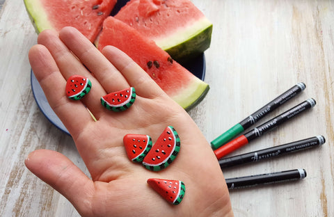 Watermelon Day Rock Painting