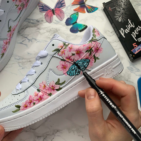 Sneakers with butterfly