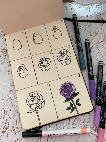 step by step rose