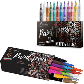 multicolored paint markers