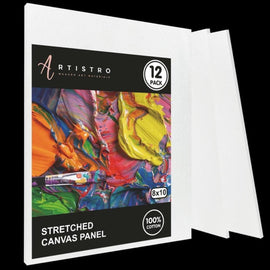 "Stretched Canvas, Black 8x10"" - Pack of 4 - Artistro"