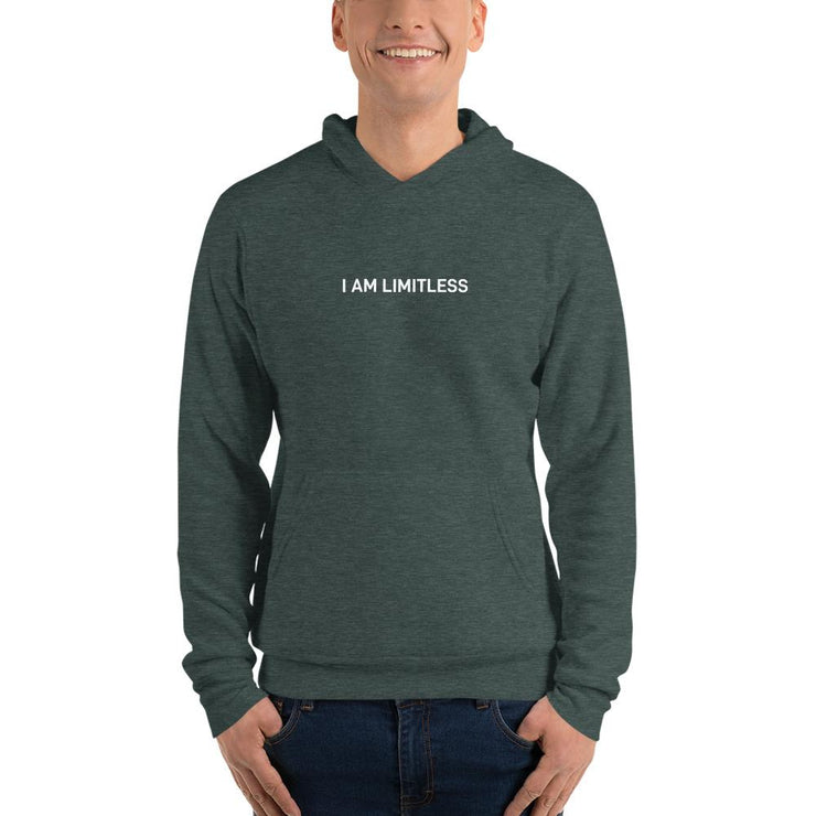 "Colored ""I AM LIMITLESS"" hoodie - Limitless Chiropractic"