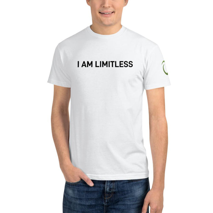 Men's White I AM LIMITLESS Organic T-Shirt - Limitless Chiropractic