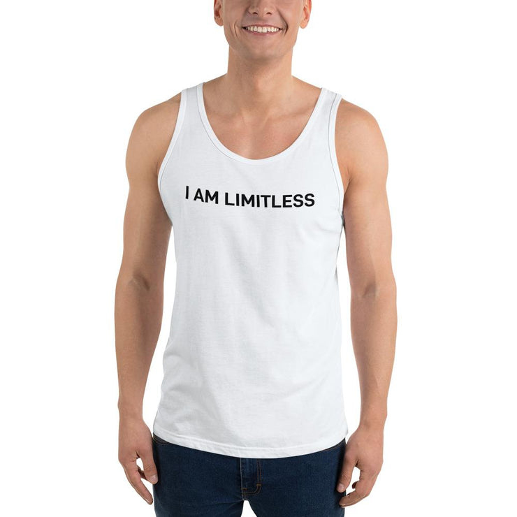 Men's White I AM LIMITLESS Tank Top - Limitless Chiropractic