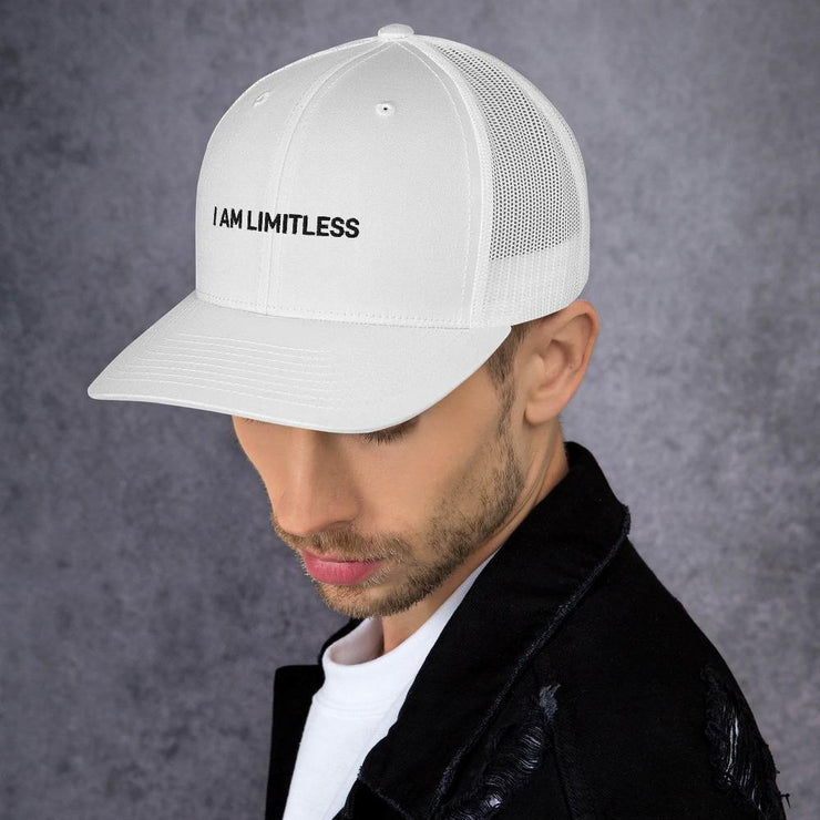 "White ""I AM LIMITLESS"" Cap - Limitless Chiropractic"