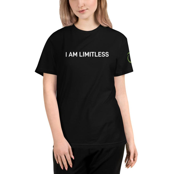 Women's Black I AM LIMTILESS Organic T- Shirt - Limitless Chiropractic