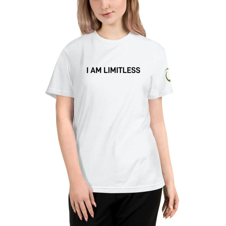 Women's White I AM LIMITLESS Organic T-Shirt - Limitless Chiropractic