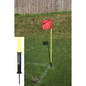 "Precision ""Sprung"" Corner Posts - Fluo Yellow (Set of 4) - For Coaches Ltd"