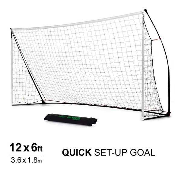 Quickplay Kickster Academy 12 x 6 ft Portable Football Goal - For Coaches Ltd
