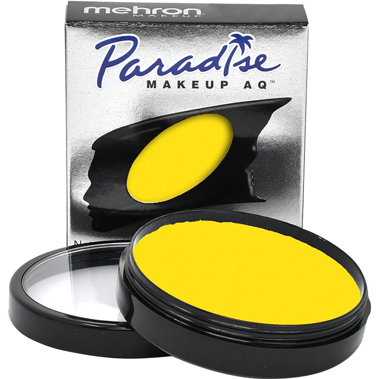 Mehron Paradise Makeup AQ Basic Yellow - The Make Up Center