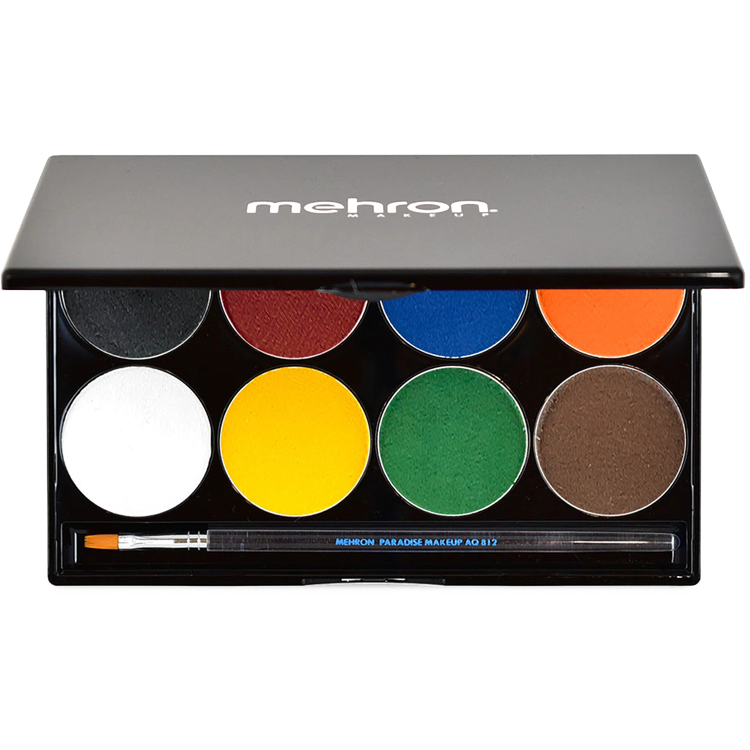 Mehron Paradise Makeup AQ Palette Basic 8 colors - The Make Up Center