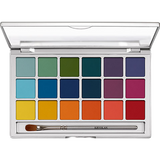 Kryolan Eye Shadow Variety Palette 18 Colores Bright - The Make Up Center