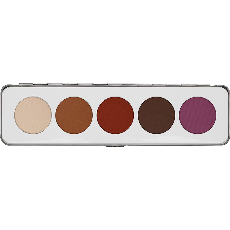 Kryolan Eye Shadow Palette 5 Matt - The Make Up Center