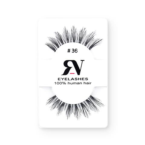 RV Eyelashes Pestañas De Cabello Humano #36 - The Make Up Center