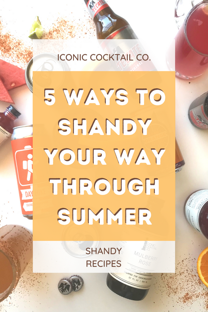 Summer shandy recipes with iconic cocktail co mixers