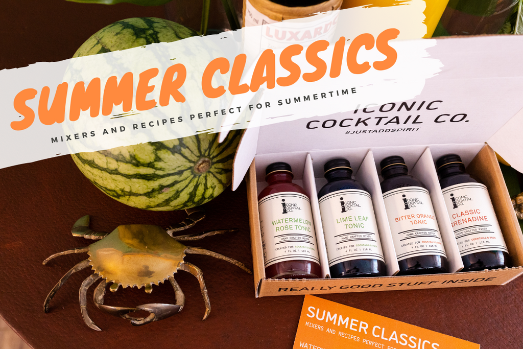 The perfect gift pack for summertime cocktails with handcrafted mixers and recipes