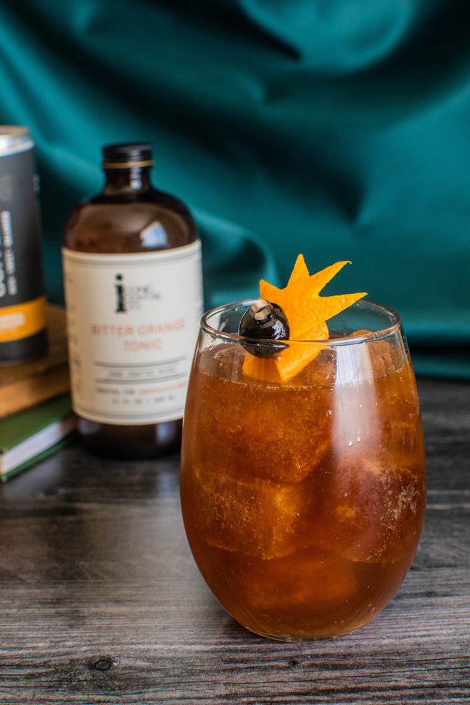 Make this coffee drink with Iconic Bitter Orange Tonic and homemade cold brew coffee cubes!