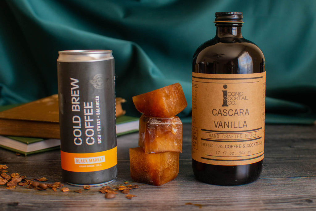 Make these coffee super cubes with Iconic Cascara Vanilla and Cartel Coffee Labs Black Market Cold Brew.