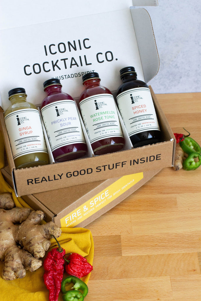 All of our Spirit Packs are curated collections of Iconic Mixers with artfully crafted recipes designed for specific styles of cocktails. This cocktail mixer kit makes the perfect gift or a way to discover a new recipe.