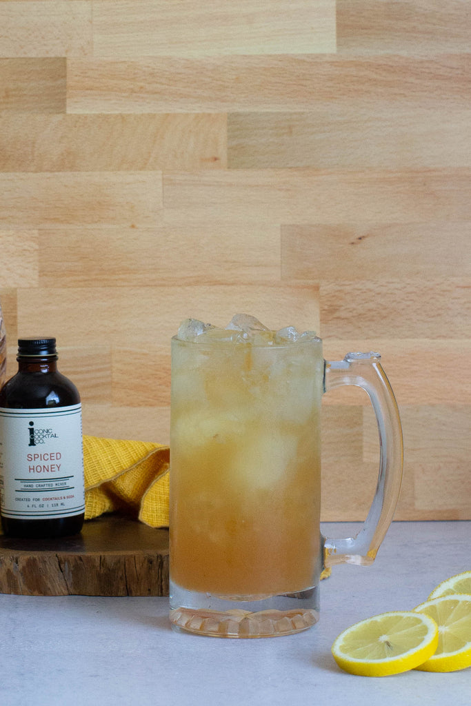 his cider concoction with scotch, Spiced Honey, and Ginga Syrup is a magical blend of liquids perfect for mending. Any self inflicting pain doesn't stand a chance to this Remedy.