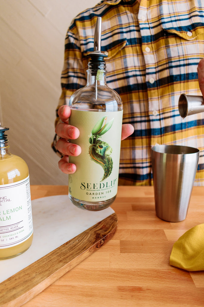 Use Seedlip Non-Alcoholic Distilled Spirit to craft quality spirit-free cocktail with Iconic Mixers