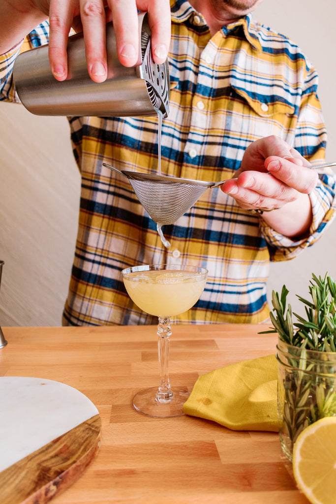 Make this simple sour with Iconic Meyer Lemon Balm and Seedlip Spirits for Dry January or any time you might not be drinking.