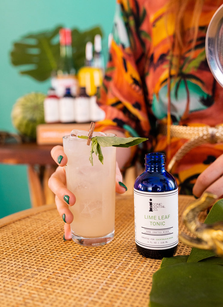 An herbal sensation made with tequila and Iconic Lime Leaf Tonic