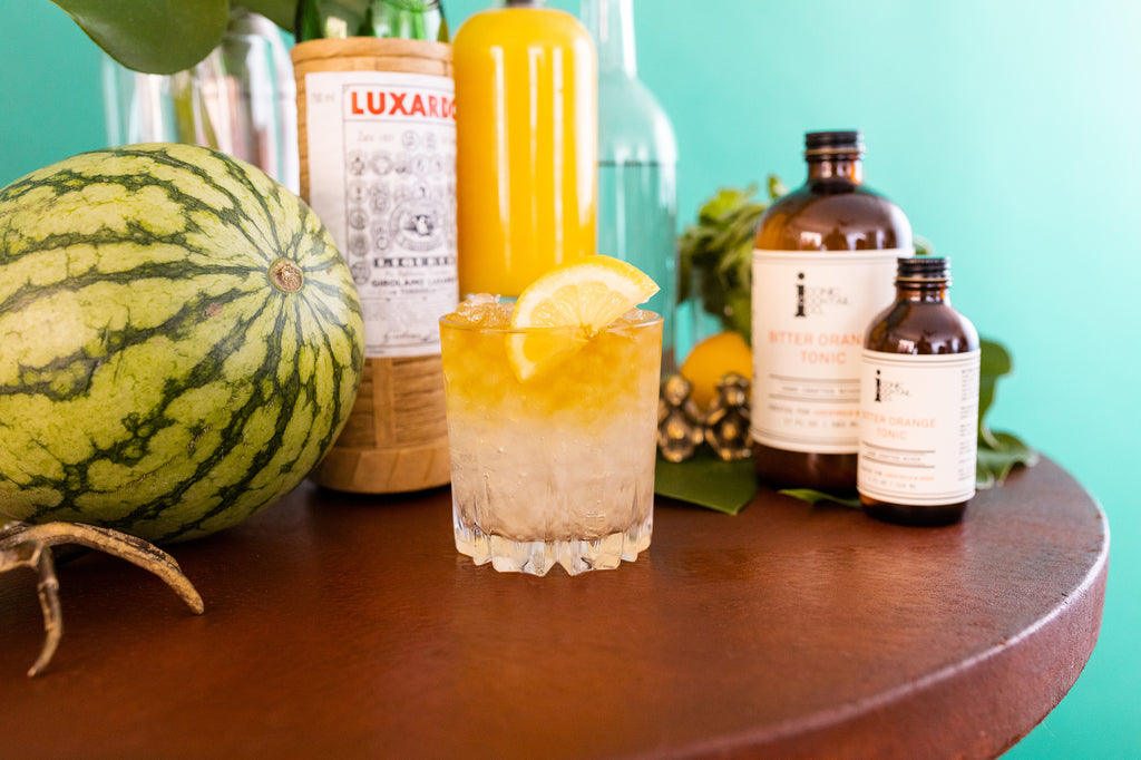Brighten up whiskey this summer by making a Whiskey Blossom with Iconic Bitter Orange Tonic.