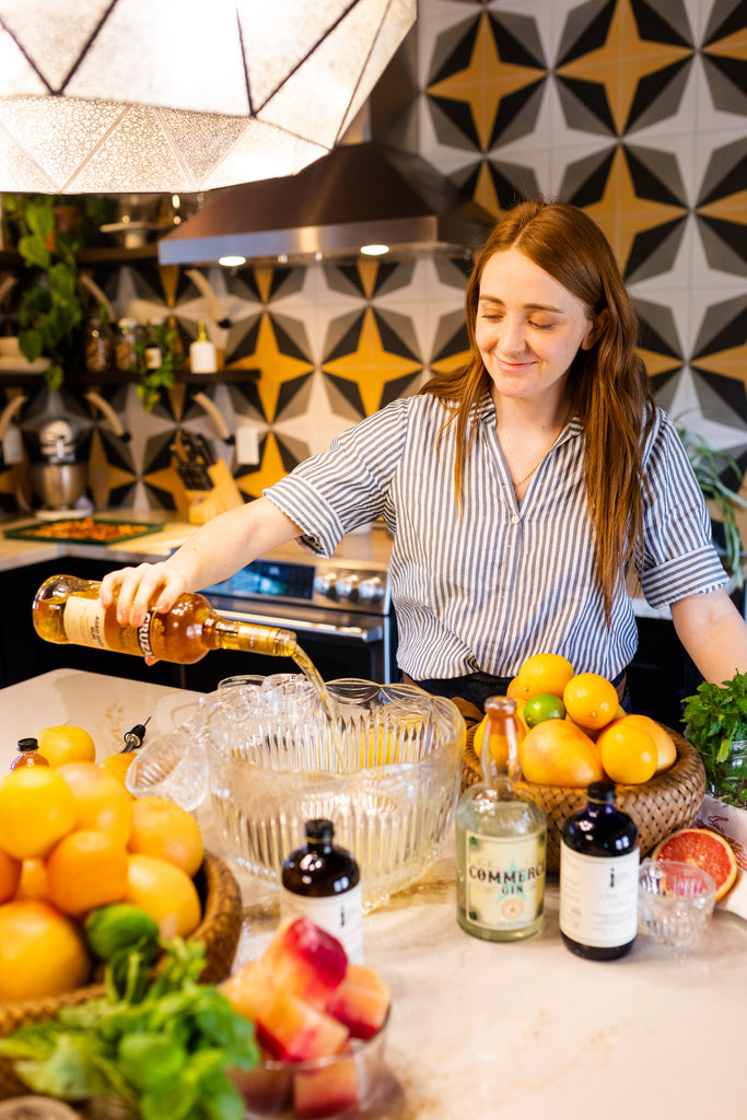 Spring punch to make for Easter brunch with Iconic Lime Leaf Tonic and Bitter Orange Tonic